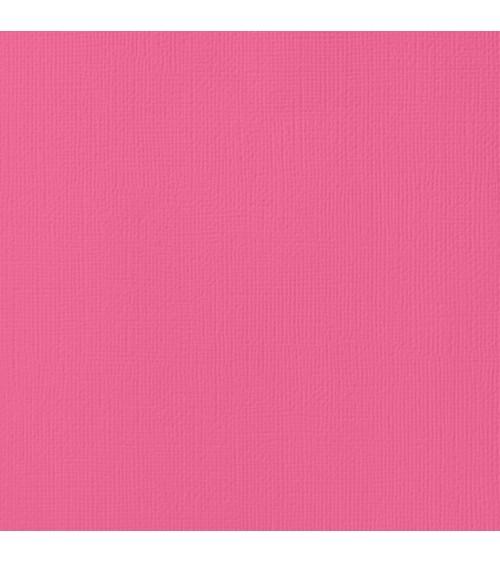 "American Crafts Textured Cardstock 12x12"" - Begonia"