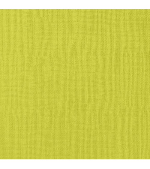 """American Crafts Textured Cardstock 12x12"""" - Limeade"""