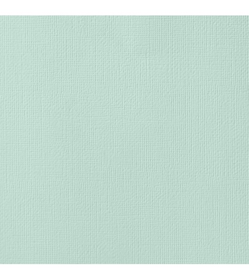 """American Crafts Textured Cardstock 12x12"""" - Spearmint"""