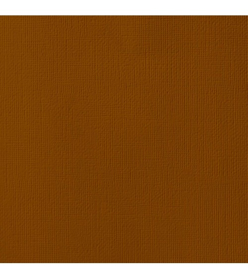 """American Crafts Textured Cardstock 12x12"""" - Truffle"""