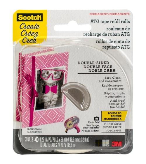 "Scotch - ATG Glue Gun Advanced Tape Glider REFILLS 1/4"" (2/Pkg)"