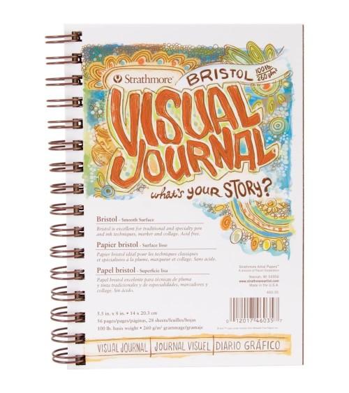 """Strathmore Visual Journal Spiral Bound 5.5""""x8"""" - Bristol Smooth"""