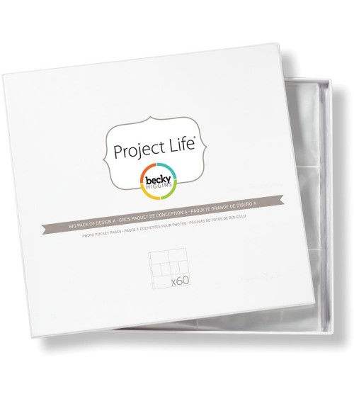 Project Life - Photo Pages/Protectors BIG PACK Design A
