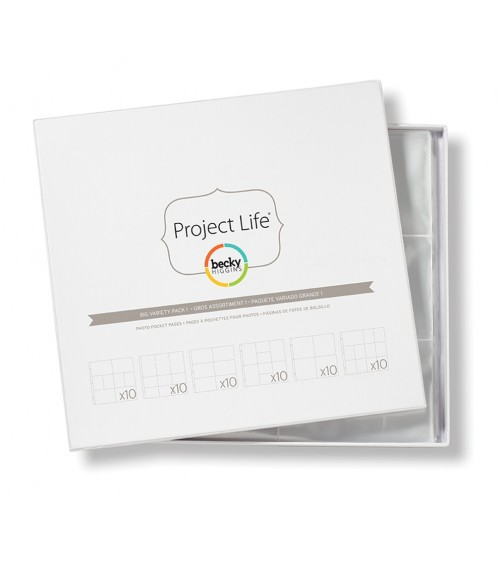 Project Life - Photo Pages/Protectors BIG PACK Variety 1
