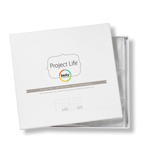 Project Life - Photo Pages/Protectors BIG PACK Variety 2