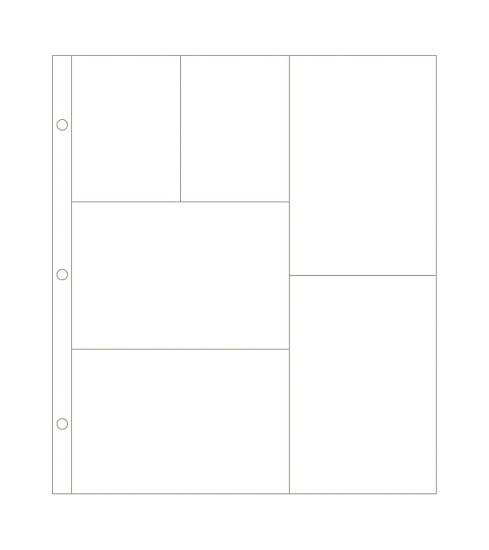 Project Life - Photo Pages/Protectors Design G 12-Pack