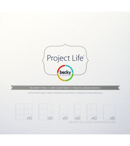 Project Life - Photo Pages/Protectors BIG PACK Variety 3