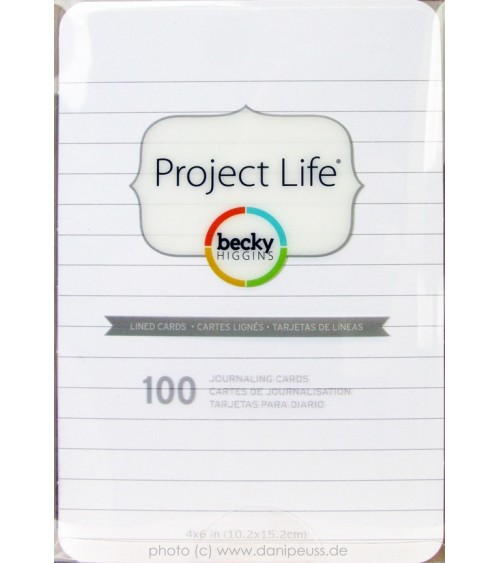 Project Life - 4x6 Lined Cards - 100er Box