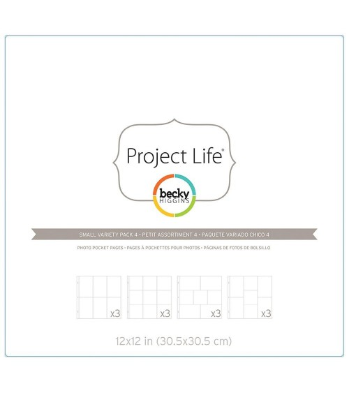 Project Life - Photo Pages/Protectors Small Variety Pack 4