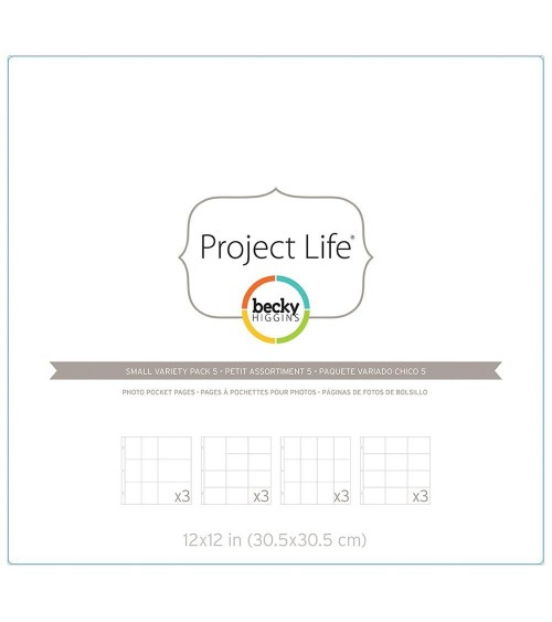 Project Life - Photo Pages/Protectors Small Variety Pack 5