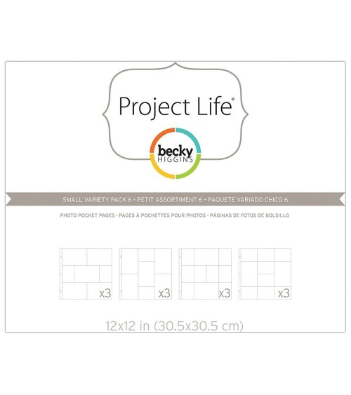 Project Life - Photo Pages/Protectors Small Variety Pack 6