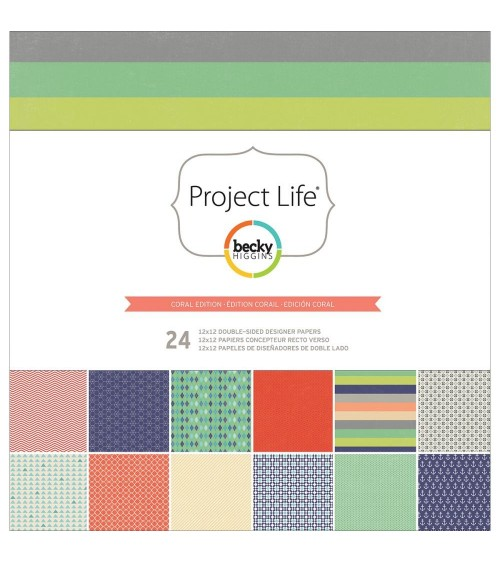 Project Life - 12x12 Collection Pack - Coral Edition 24 Blatt