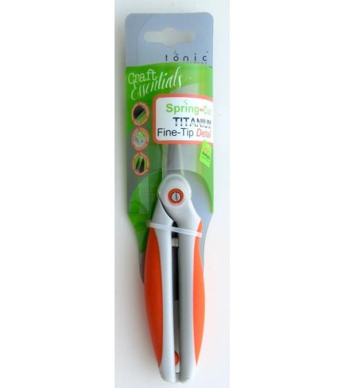 """Tonic - Kushgrip Spring-Cut Detail Scissors TITANIUM 6.5"""""""