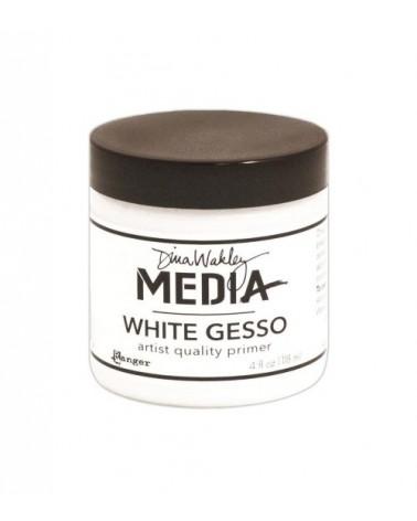 Ranger Dina Wakley MEDIA - White Gesso (118ml Dose)