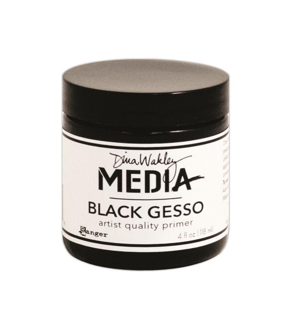Ranger Dina Wakley MEDIA - Black Gesso (118ml Dose)