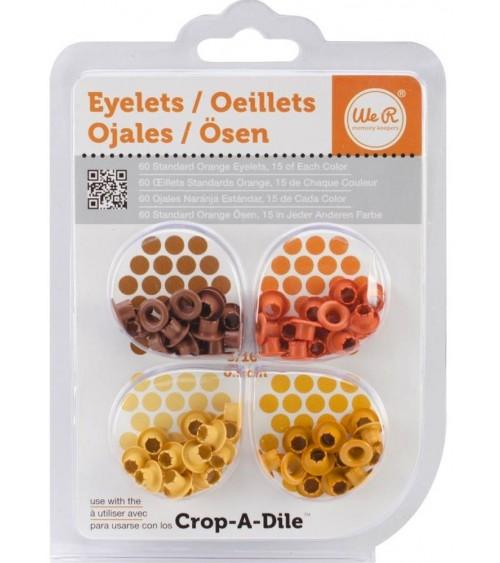We R Memory Keepers - Eyelets Sortiment Standard - Orange (60 St
