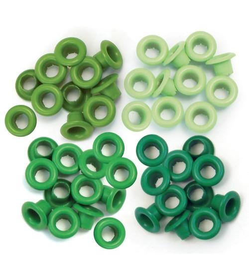 We R Memory Keepers - Eyelets Sortiment Standard - Green (60 Stk