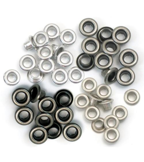 We R Memory Keepers - Eyelets Sortiment Standard - Cool Metal
