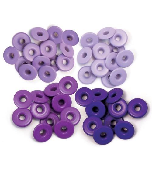We R Memory Keepers - Eyelets Sortiment WIDE - Purple (40 Stk)