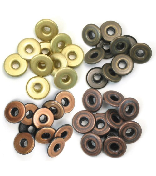 We R Memory Keepers - Eyelets Sortiment WIDE - Warm Metal (40 St
