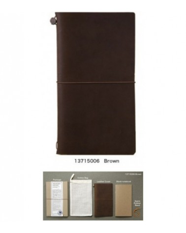 Midori - Traveler's Notebook - Notebook Brown