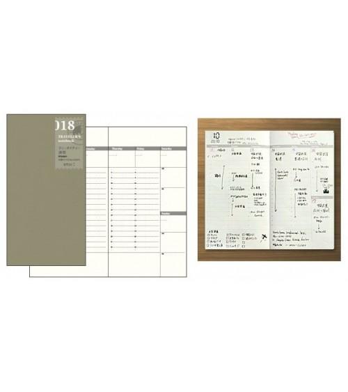 Midori - Traveler's Notebook - 018. Free Diary Week