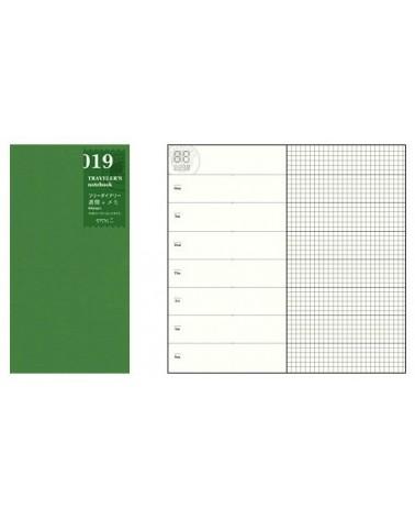 Midori - Traveler's Notebook - 019. Free Diary Week + Memo