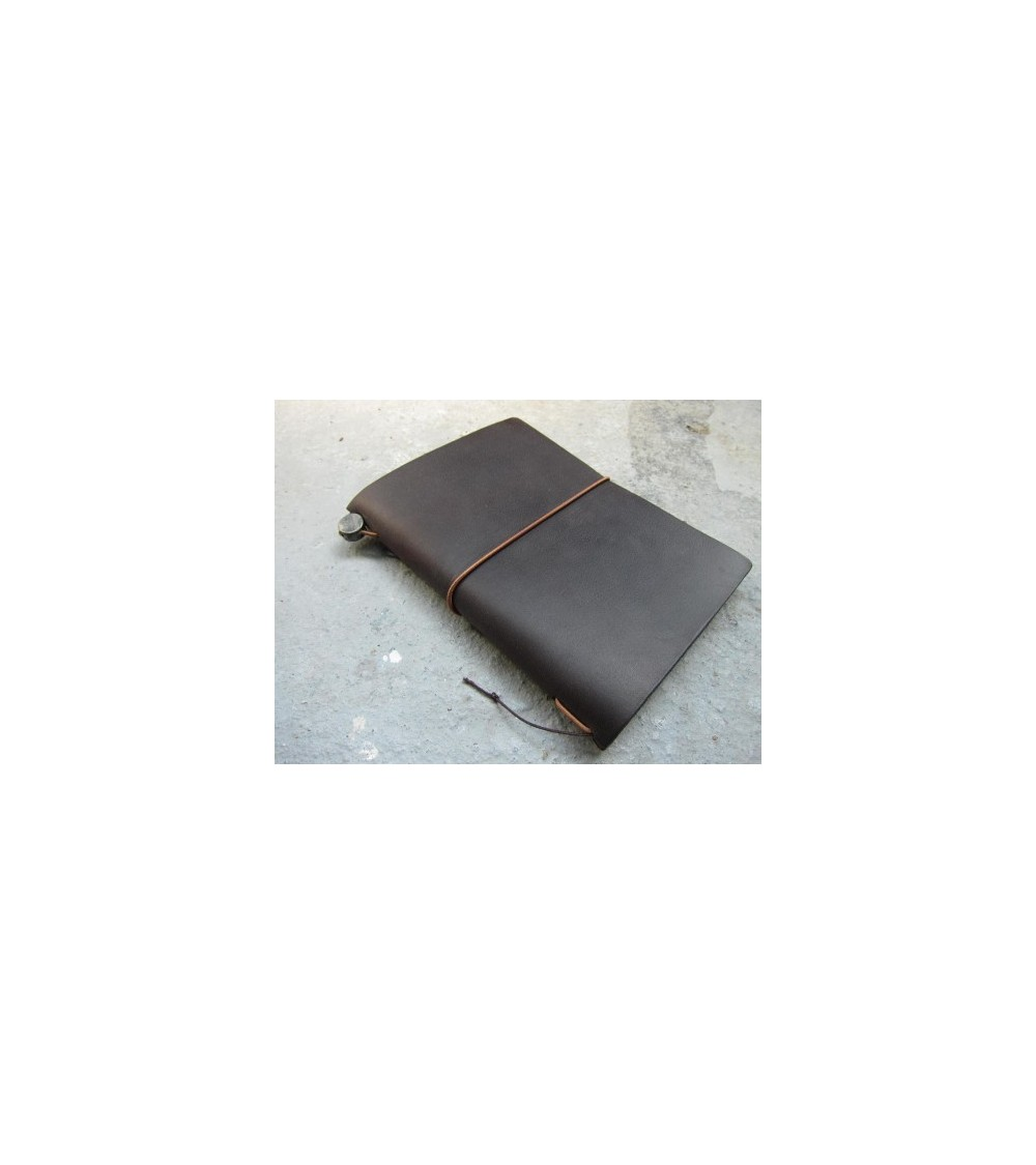 Midori - Traveler's Notebook - Passport Size Notebook Brown