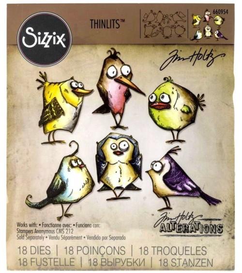 Sizzix - Tim Holtz - Thinlits Dies - Bird Crazy