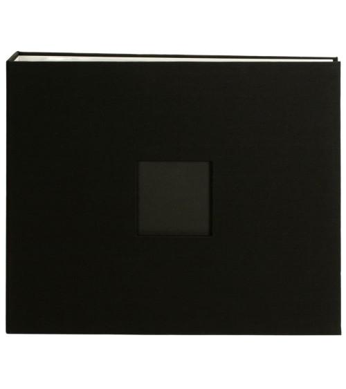 "American Crafts Cloth D-Ring Album 12x12"" Black"