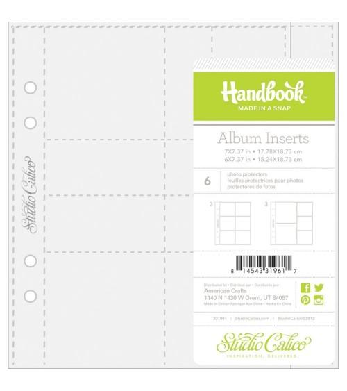 """Studio Calico - Handbook Made in a Snap - Page Protectors 6x7"""" u"""