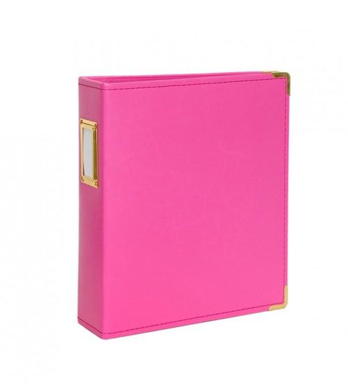 """Studio Calico - Seven Paper - Handbook Album 6x8"""" - Hot Pink"""