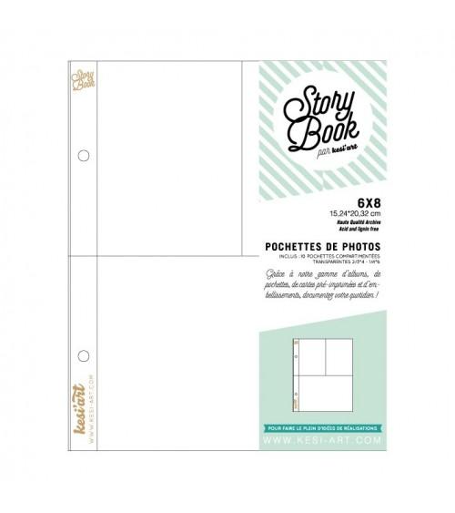 """kesi-art - Schutzhüllen - Pocket Pages 6x8"""" Pack 4"""