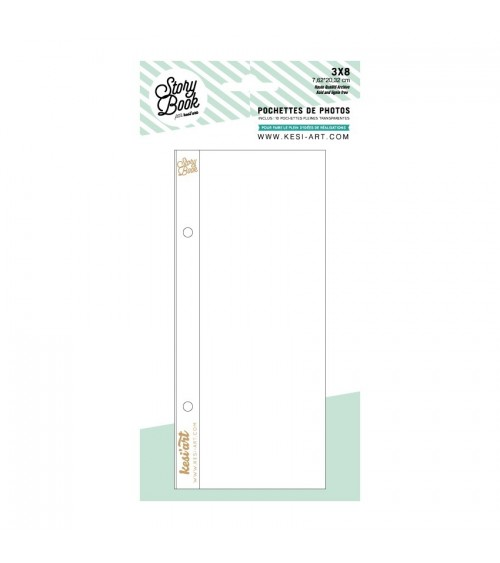 """kesi-art - Schutzhüllen - Pocket Pages 3x8"""" Pack 7"""