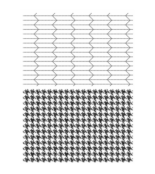 Stampers Anonymous - Tim Holtz Cling - Tailor & Houndstooth