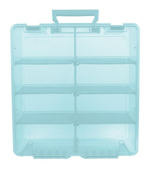 ArtBin - Super Satchel DOUBLE Deep 8 Compartment Box Aqua Mist