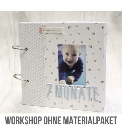 Online Workshop: Babyalbum Minibook von Mel  OHNE Materialpaket
