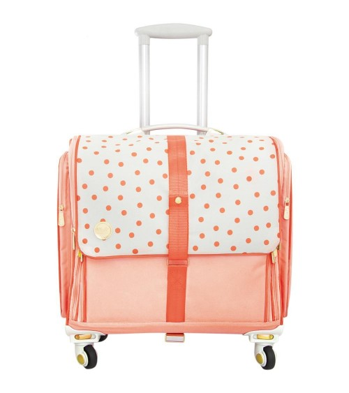 We R Memory Keepers - 360 Crafter's Bag Rolling Tote Blush Dot