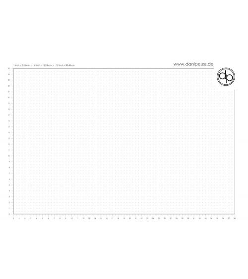 dp Schreib-/Stempelunterlage - A3 Block (50 Blatt) - Dot Grid