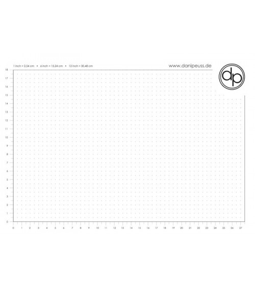 dp Schreib-/Stempelunterlage - A4 Block (50 Blatt) - Dot Grid