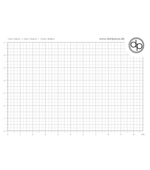 dp Schreib-/Stempelunterlage - A4 Block (50 Blatt) - inch Grid