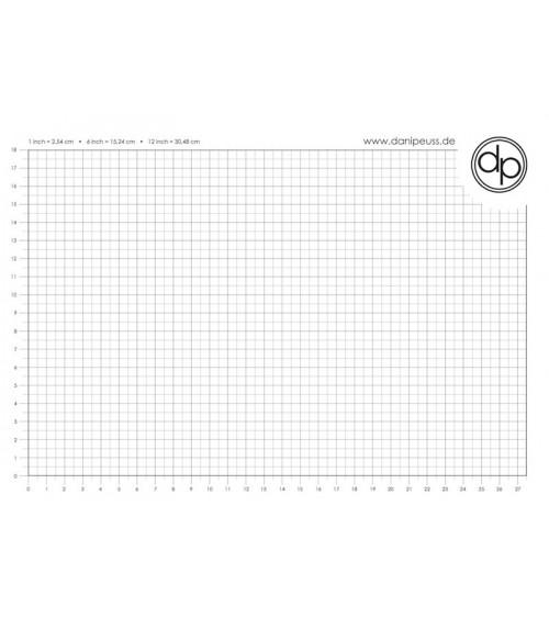 dp Schreib-/Stempelunterlage - A4 Block (50 Blatt) - cm Grid