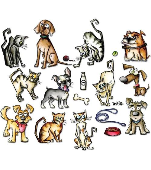 Sizzix - Tim Holtz - Framelits Dies - Crazy Cats & Dogs