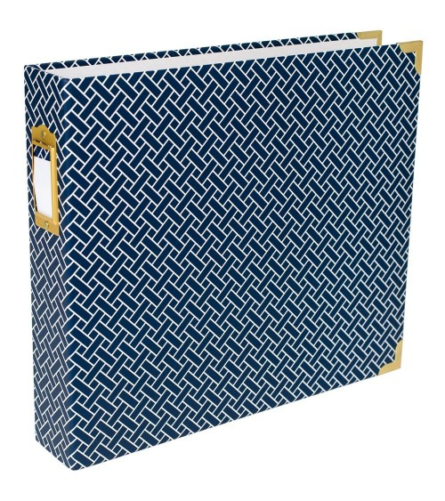 Project Life - Album 12x12 D-Ring - Navy Weave