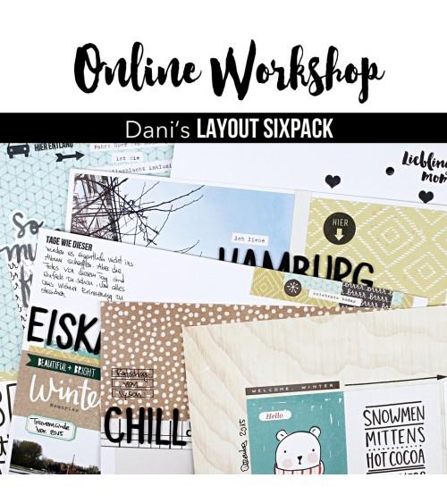 """Online Workshop """"Dani's Layout Sixpack""""  Dezember 2016"""