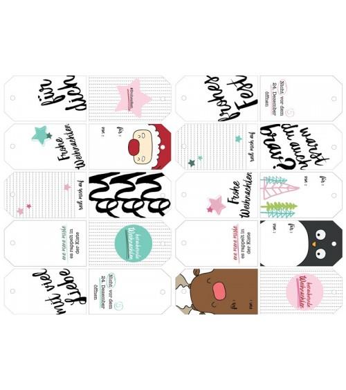 Printables  weihnachtliche Geschenkanhänger (2 Seiten A4)