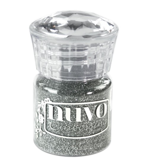Tonic - Nuvo Embossing Powder - Silver Moonlight (Glitter)