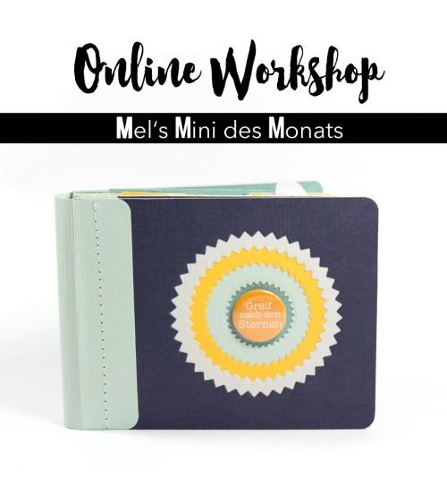 """Online Workshop """"Minialbum mit Einschubseiten""""  von Mel"""