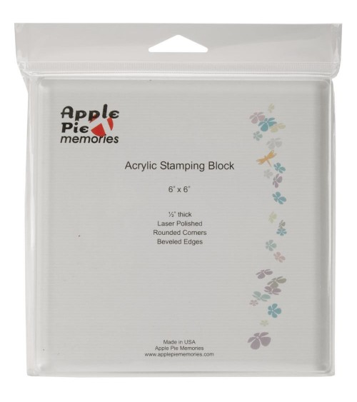 "Apple Pie Memories - Acrylic Stamp Block 6x6"" (ohne)"
