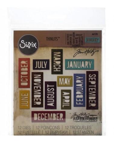 Sizzix - Tim Holtz - Thinlits Dies - Block Calendar Words